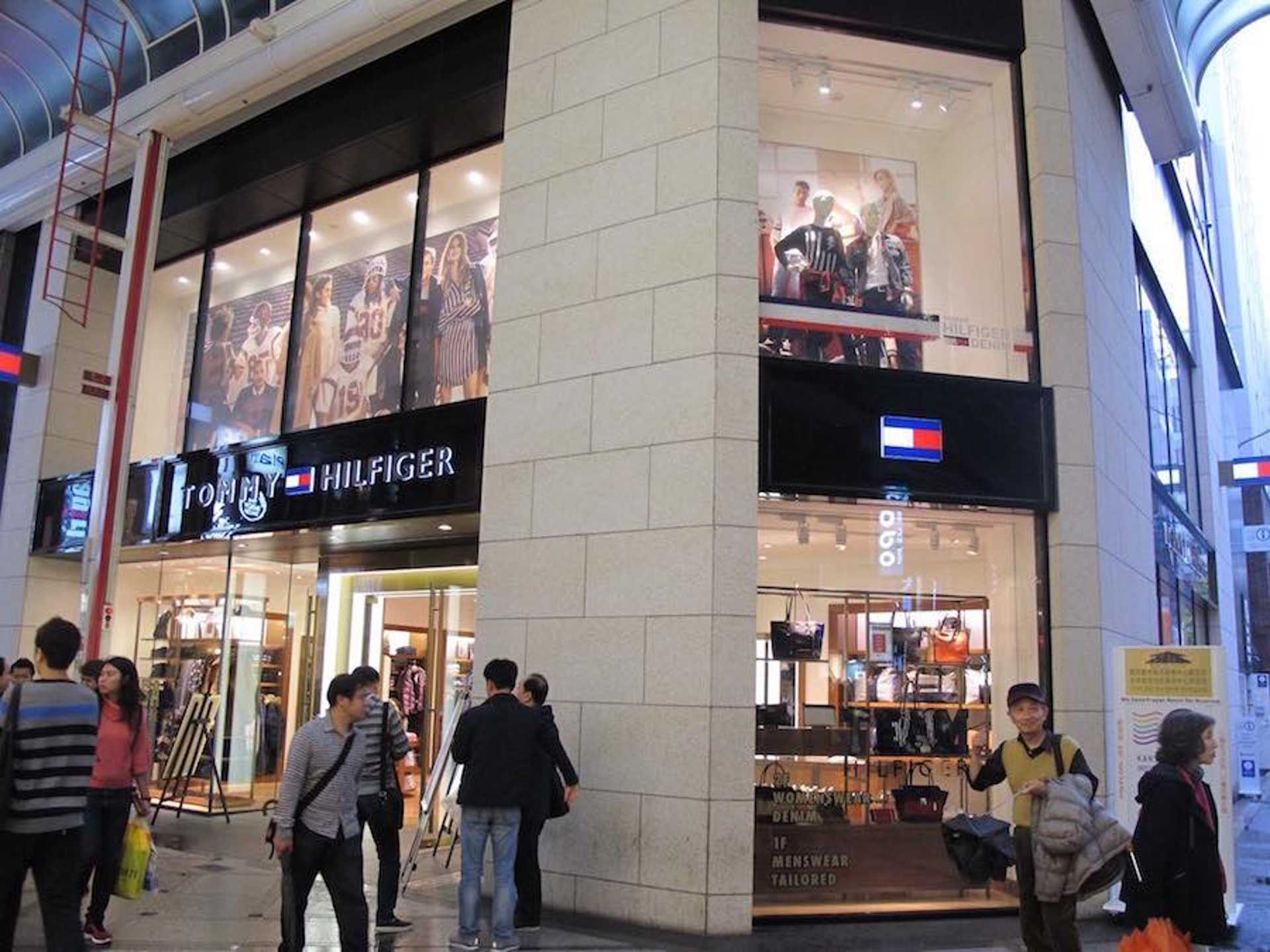 First, locate the Tommy Hilfiger store at Shinsaibashi Suji. Trust us, you won't miss it.