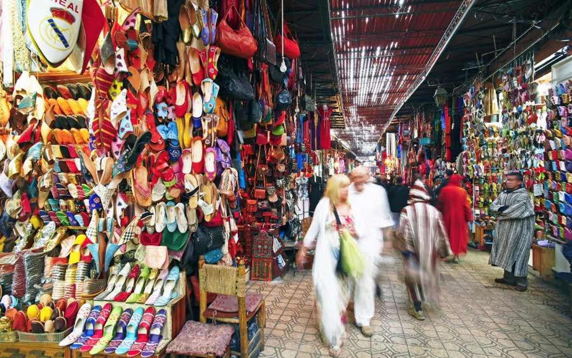 2 - Find your way through the labyrinth of Marrakechs famous souks Morocco