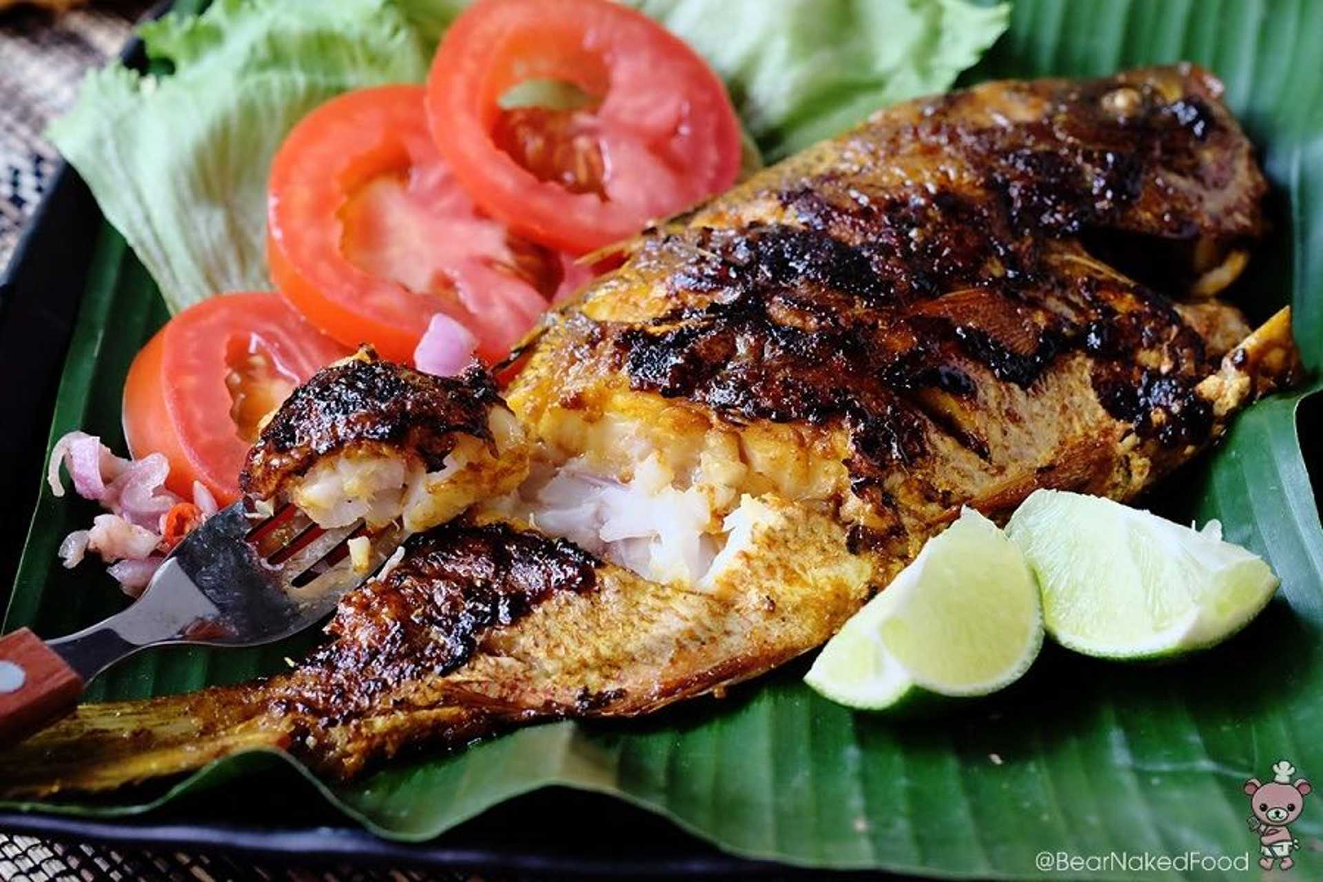Grilled fish with a side of rice feels heavenly