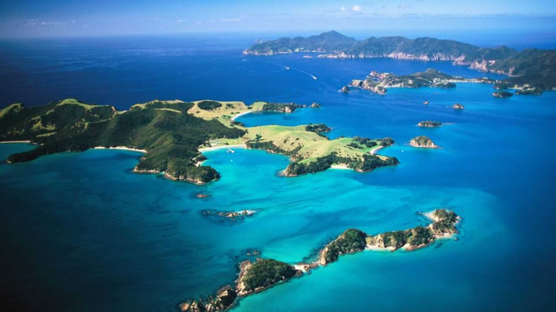 Bird's eye view of the Bay of Islands