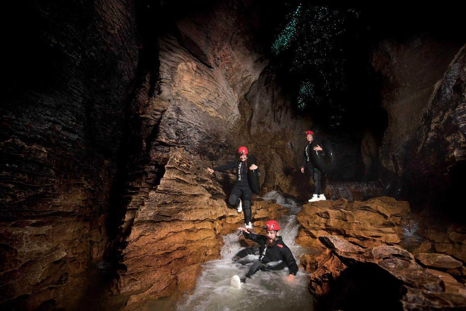 Who would've thought you could go tubing in an underground river?