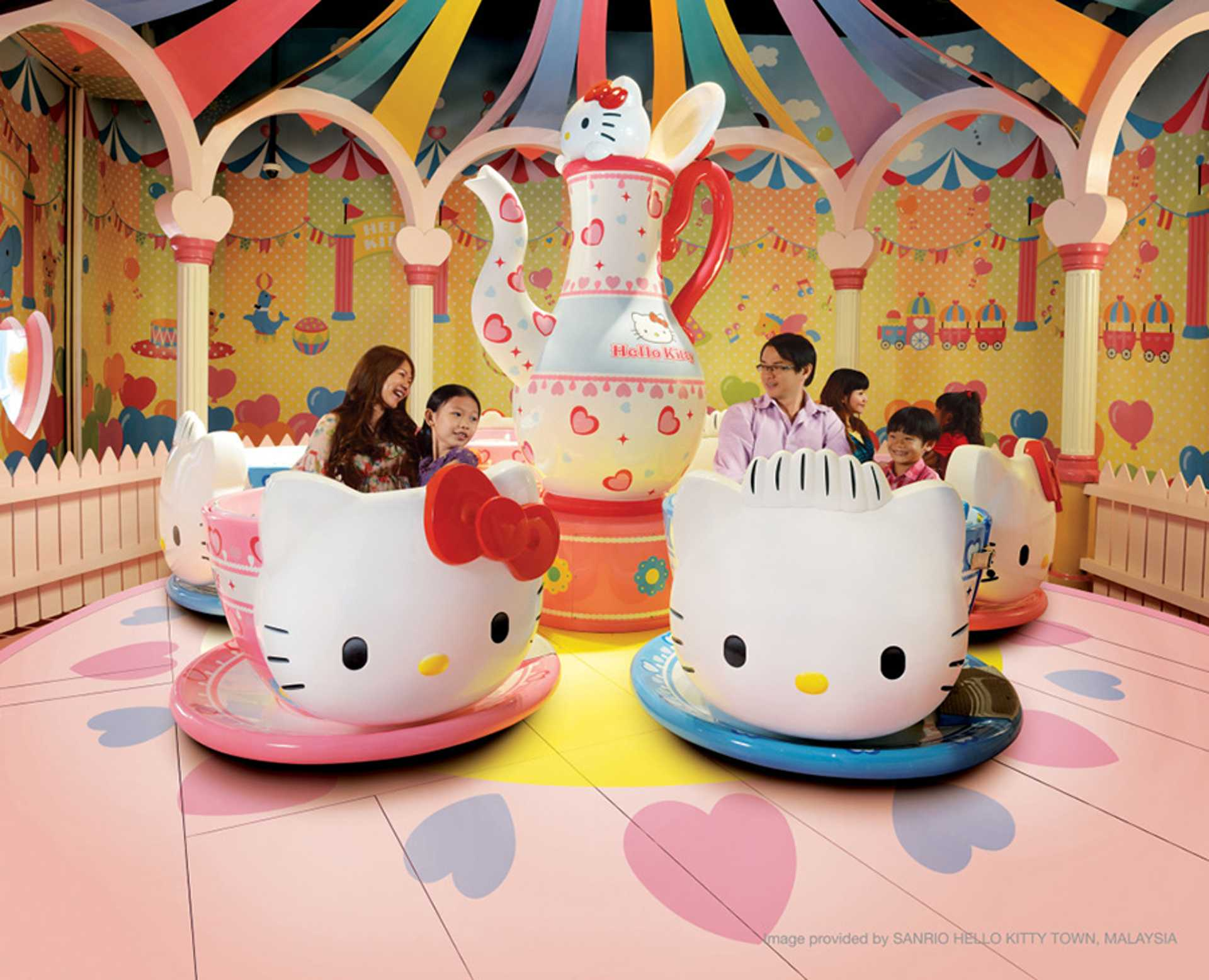 10 - How cute is this Hello Kitty ride