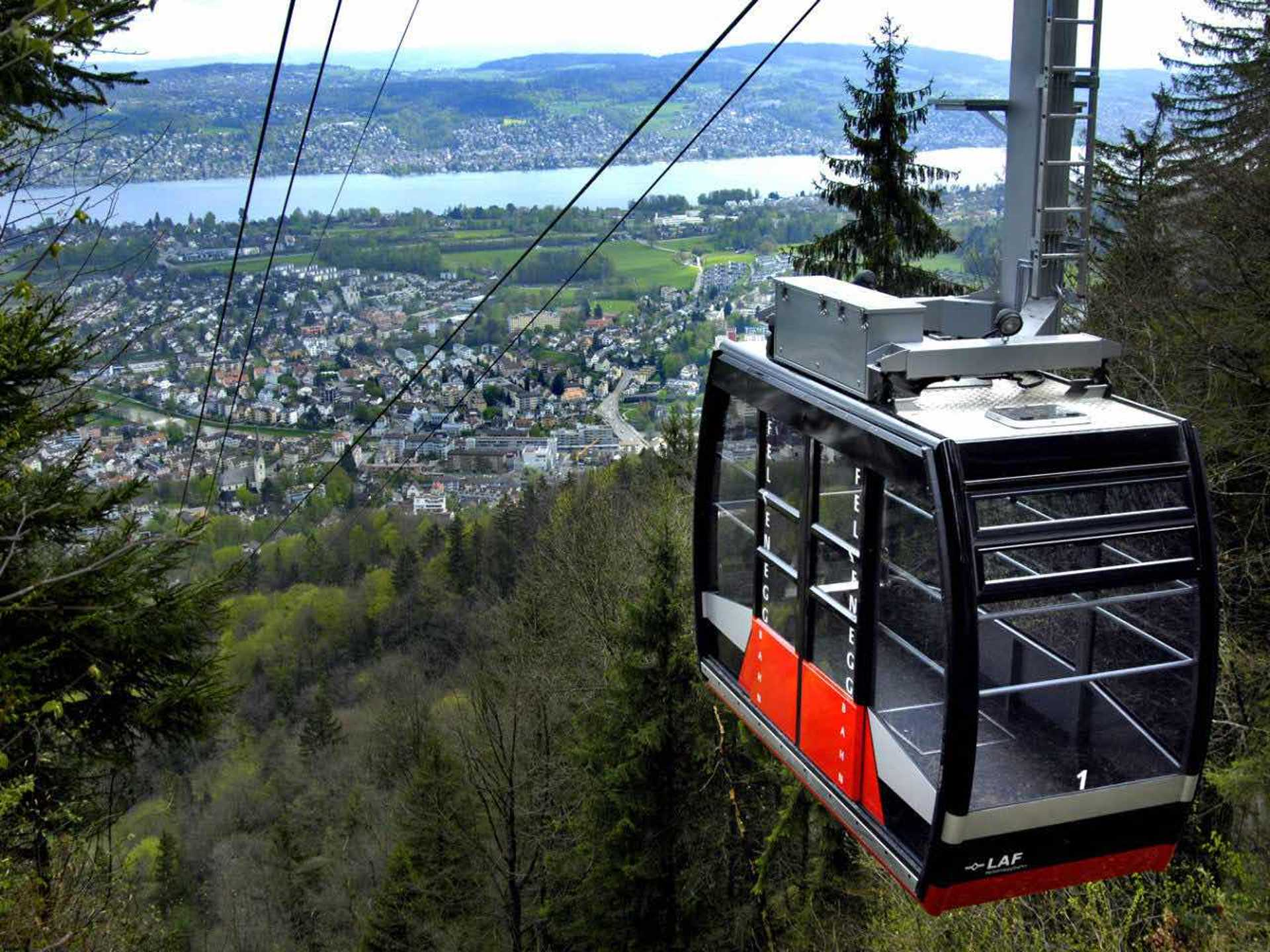 You can also ride an aerial cable car to Felsenegg!