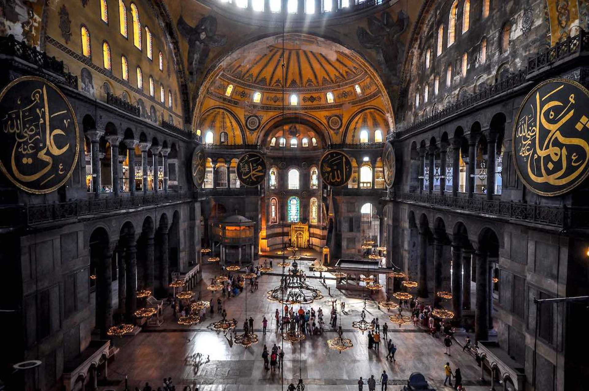 The interior of the Hagia Sophia is an architectural and historical wonder!