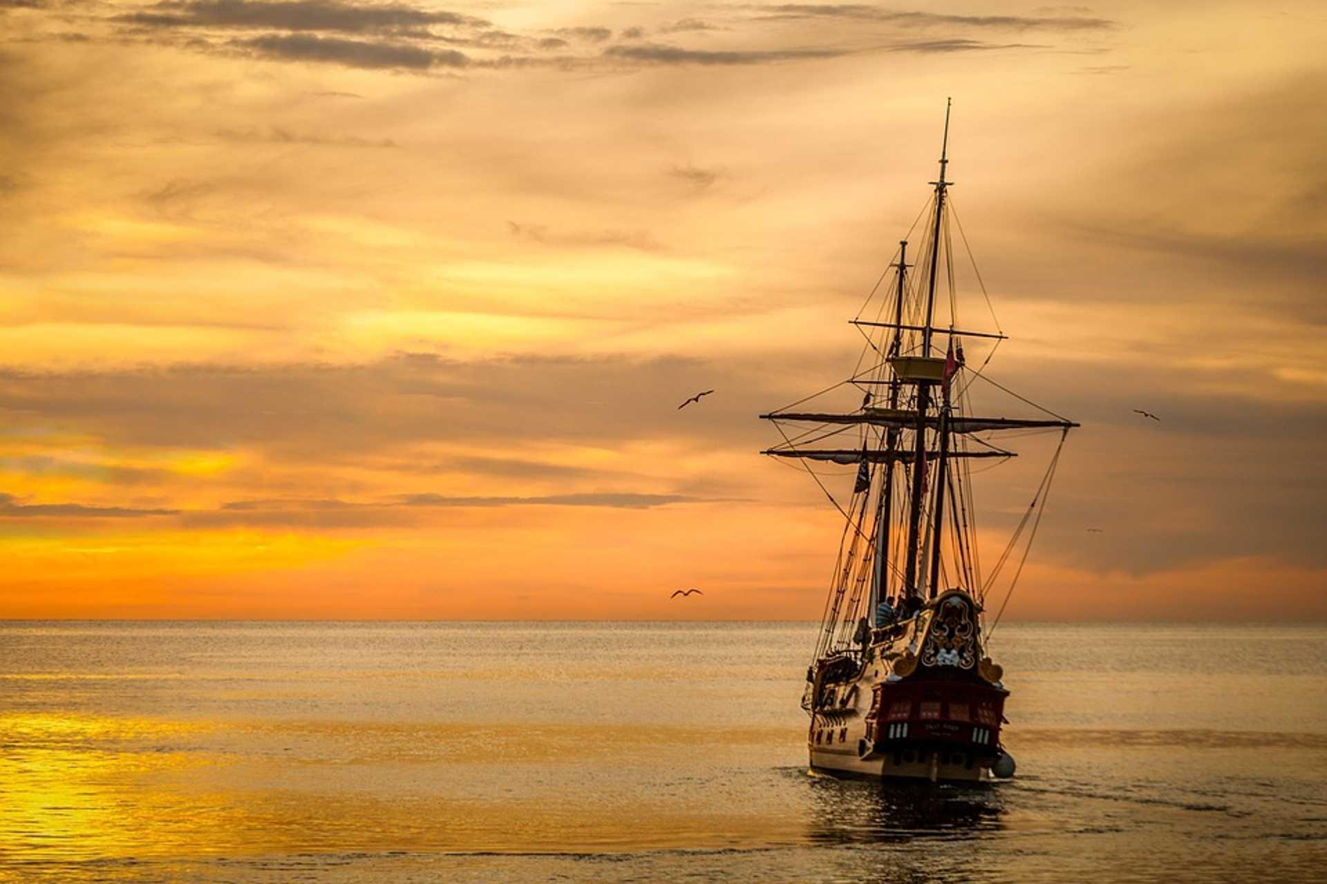 Sunset, Sailing Boat, Boat, Sea, Ship