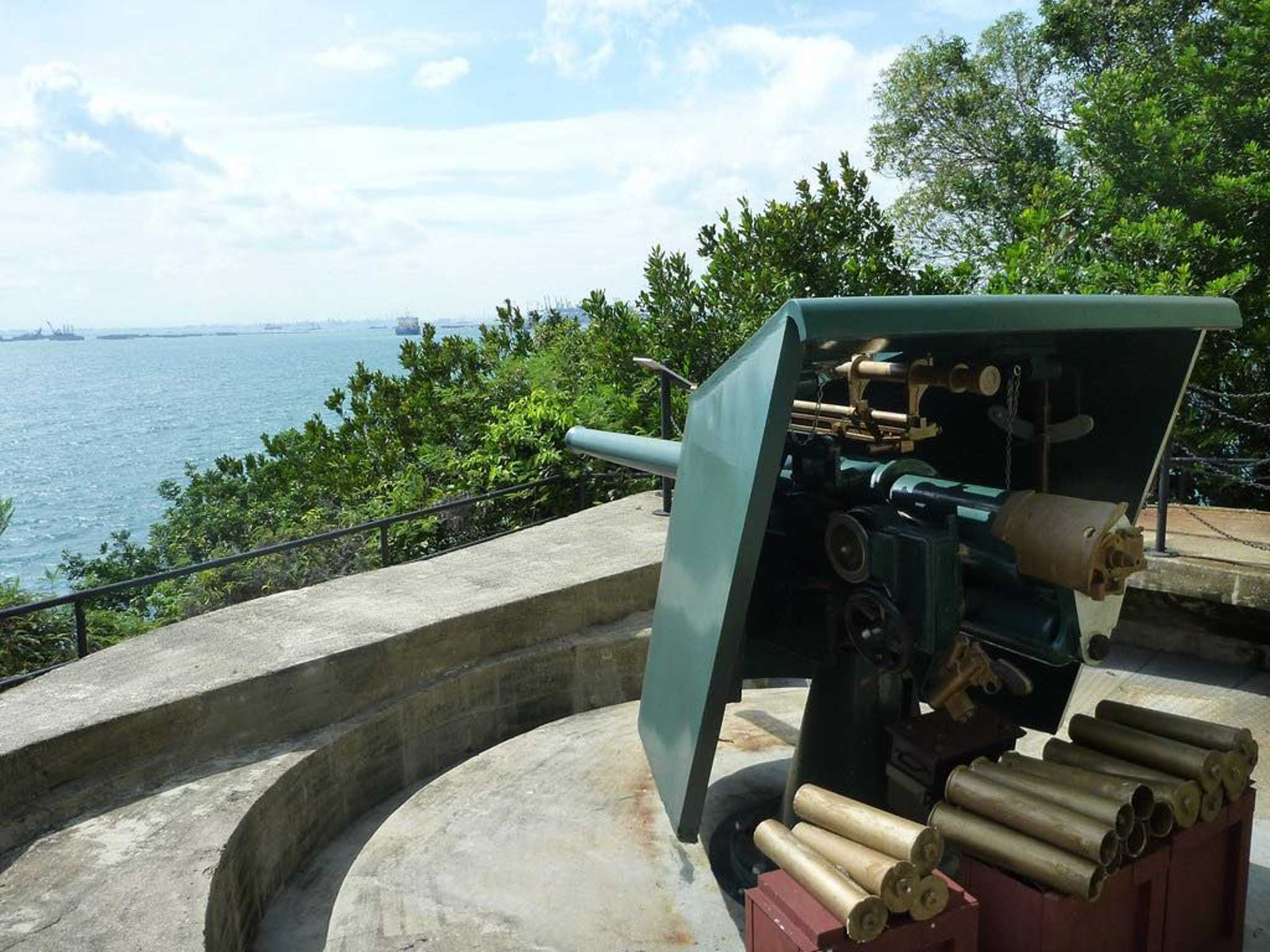 The big guns of Fort Siloso